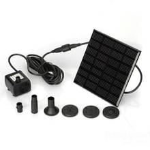 Bomba de agua Solar con Panel de Pompón, fuente para piscina, estanque de jardín, sumergible, automática