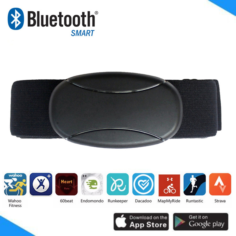 Bluetooth Heart Rate Monitor Chest Strap Belt Wahoo Runtastic Polar Beat Strava Endomondo Fitness Heart Rate Sensor Pulse Meter