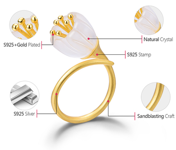 Natural Crystal Handmade Fine Flower Ring11