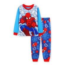 Bébé Garçons Vêtements Ensembles Enfants 2017 Nouvelle À Manches Longues Spiderman T shirt + Pantalon 2 Pcs Costumes Pour Garçon Vêtements Coton Enfants pyjamas