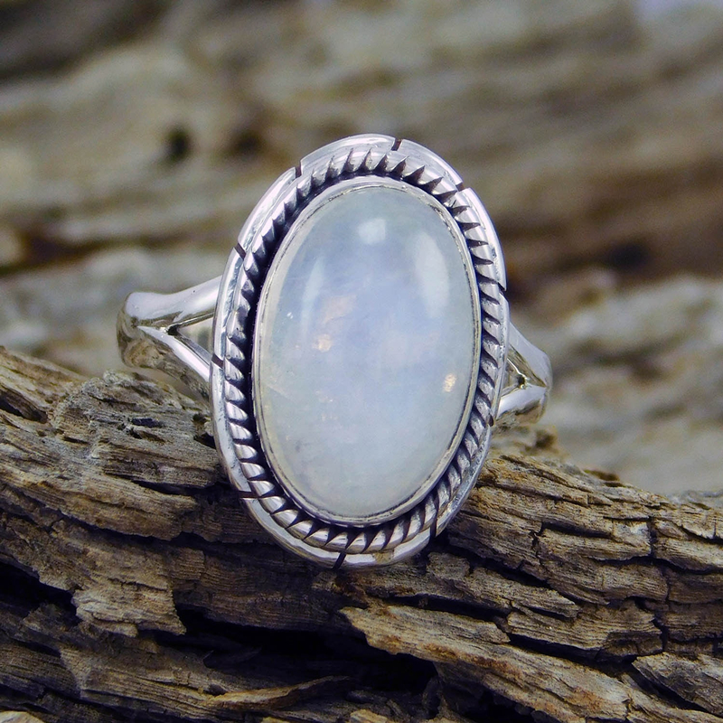 Big Moonstone Rings for Women Vintage Jewelry Antique ...