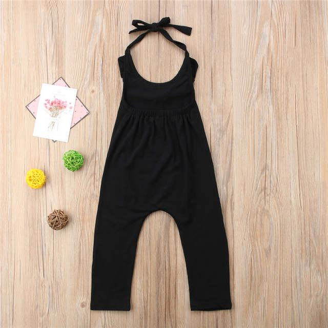 1585252bff7d Cotton Baby Kids Girls Romper Summer Sleeveless Ruffle Halter Backless  Rompers Camo Jumpsuit Playsuit Clothes Girl