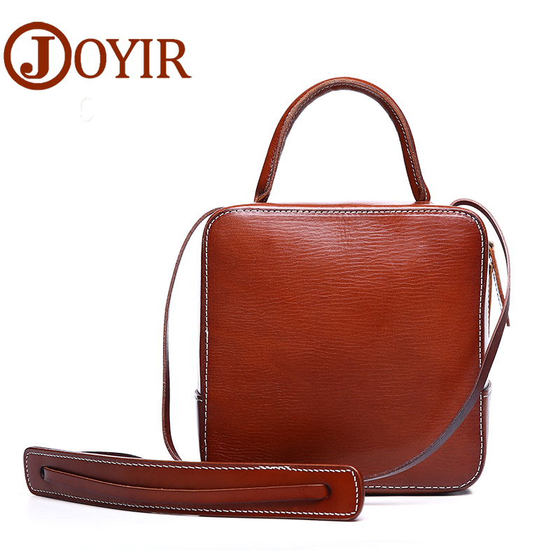 JOYIR Women Genuine Leather Messenger Crossbody Bag Designer Handbags Solid Flap Pocket Shoulder Bags Trunk Bolsa Feminina 8606 joyir vintage women messenger bag designer genuine leather handbags crossbody bags for women shoulder bag bolsa feminina 8602