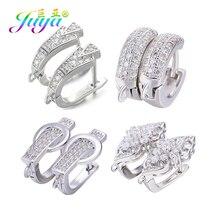 Juya DIY Fine Jewelry Material Supplies Handmade Earwire Gold/Silver Color Earring Hooks Accessories For Luxury Earrings Making