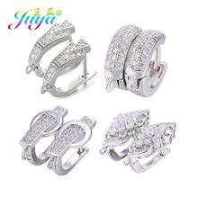Juya DIY Fine Jewelry Material Supplies Handmade Earwire Gold Silver Earring Hooks Accessories For Women Luxury Earrings Making cheap 2 0g Clasps Hooks 1 4cm Micro Pave Zircon Jewelry Accessories 0 6cm 1 7cm Jewelry Findings Metal Copper 2 0cm Decorative Earring Hooks