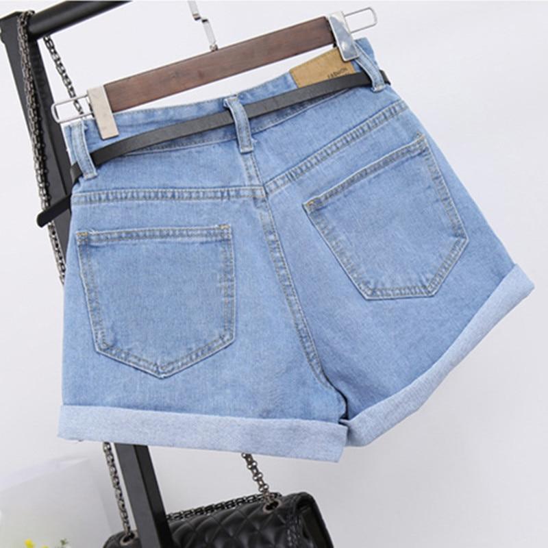 Women's Clothing High Waist Denim Shorts Female Short Jeans For Women 2019 Summer Ladies Hot Shorts Crimping Wide Leg Denim Shorts Fragrant Aroma