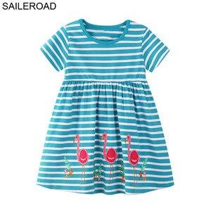 SAILEROAD Animal vestido para niñas verano niños fiesta vestidos algodón 3 años vestido unicornio niños ropa bebé hermoso vestido