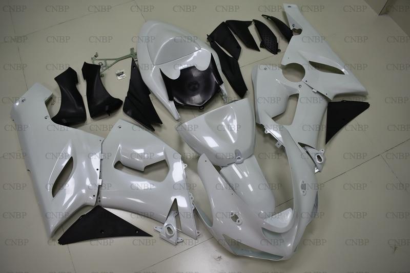 636 ZX 6r 2005 2006 набор для всего тела для Kawasaki ZX6r 05 Пластик Обтекатели 636 ZX 6r 2006 белые обтекатели