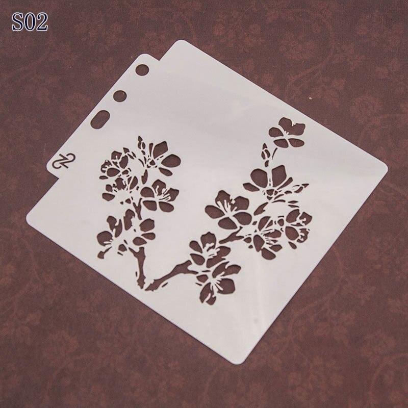 Sakura Pvc Layering Stencils For Diy Scrapbook Coloring,painting Stencil,home Decor Diy Etc. Product Image
