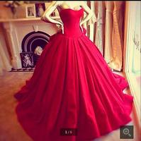 2016 Elegant Victoria Royal Style Corset Sexy Sweetheart Vestido De Renda Red Ball Gown Prom Dresses