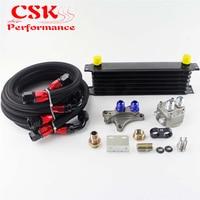 7 262 milímetros Row Oil Cooler Kit Serve Para Silvia S13 S14 S15 180SX 200SX 240SX SR20DET Preto