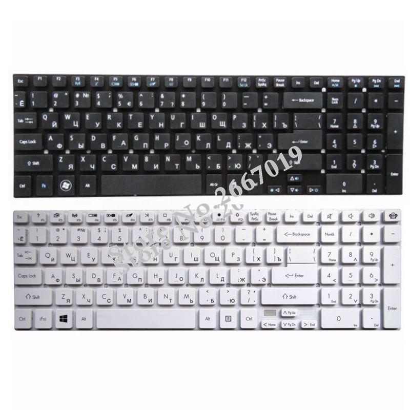 Russia For Acer For Aspire E5-511 E5-511G E5-511P E5-521 E5-521G E5-531 RU Keyboard Black/white