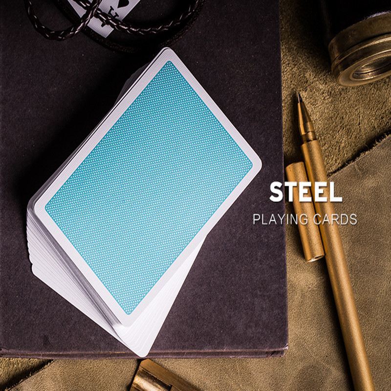 1 Pcs Steel Playing Cards Poker Colored Box Deck USPCC Limited Edition New Sealed Magic Deck Props Magia Tricks Funny Gifts