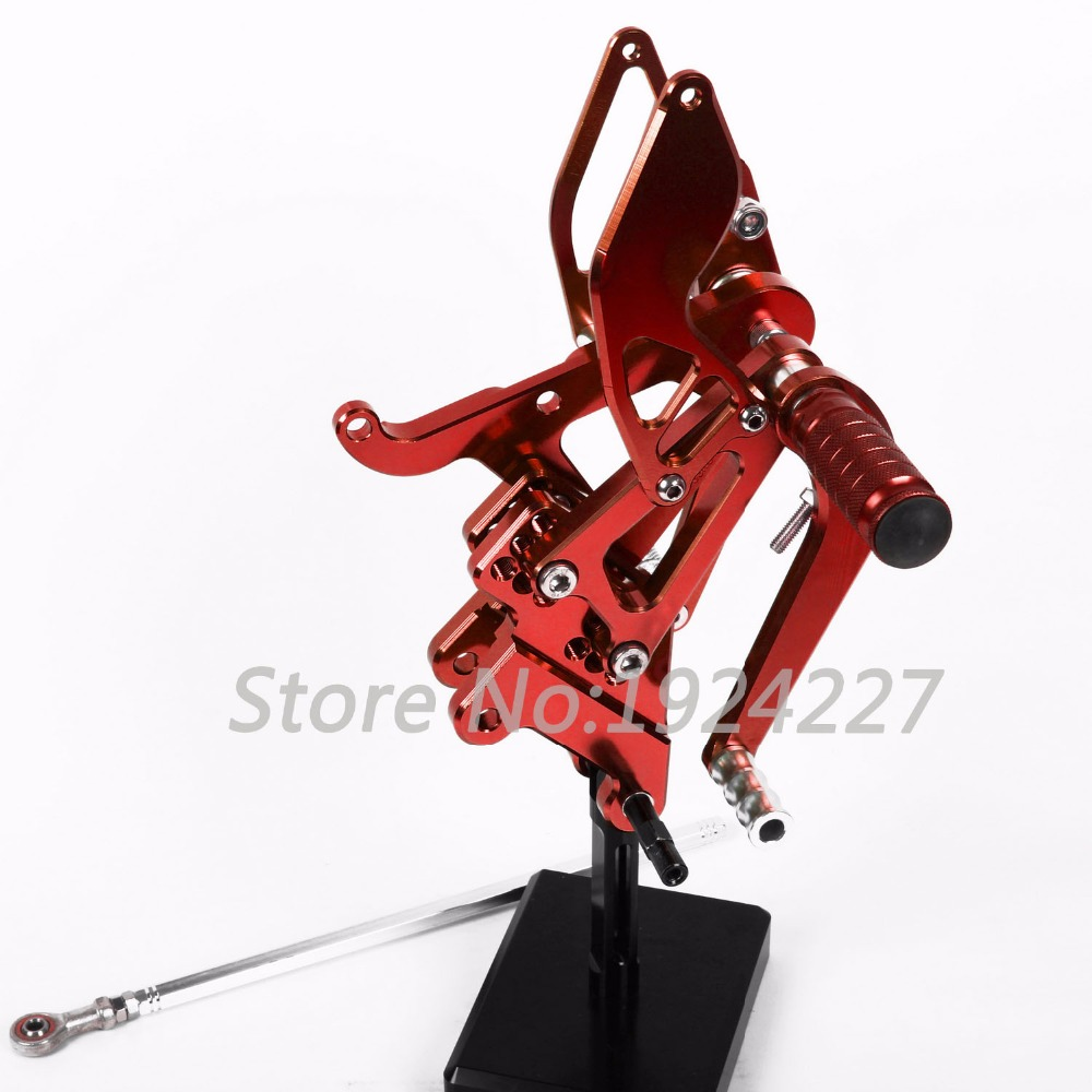 For Yamaha YZF R6 2003-2005 Hot Motorcycle Footpegs CNC Aluminum Adjustable Rearset Foot Pegs Rear sets Motorbike Footrests