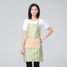 6 Colors Waterproof Oil-proof Simple Style Stripe Apron for Women Cooking Apron Baking Accessories Restaurant Kitchen Bib rainbow unicorn waterproof cooking baking apron