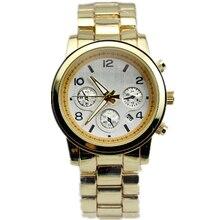 Топ Luxury Brand Мужская Мода Часы Сплав Металл Мужчины Подарков Reloj montre homme ЗОЛОТО военные часы