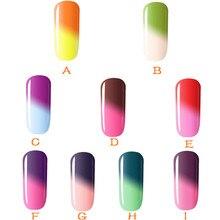 1 шт. 5 мл УФ-температура сменить гель лак для ногтей основа и топ требует краски ногтей