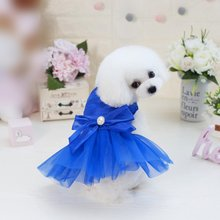 Spring/Summer Cute pet models Japan &South Korea tri-color horizontal stripes skirt for small dog Wedding Dress party(China)