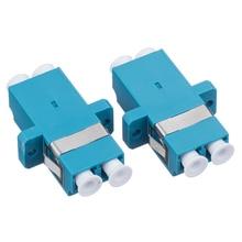 100pcs/lot TYPE LC-UPC SM DX Fiber Optical Adaptor LC UPC connector Adaptor 870 type tonometer adaptor
