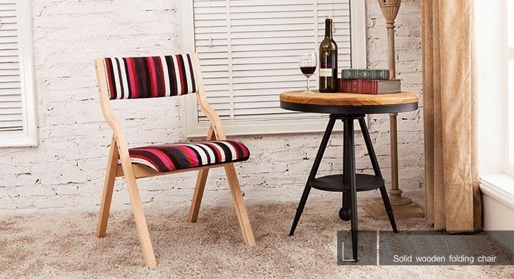 Sedia da giardino tea table sgabello sedile ribaltabile telaio in