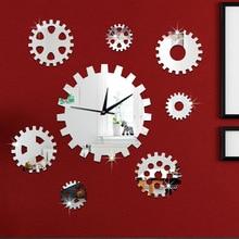 DIY Creativity Decorative clock Sofa background Precision Rotating gear Mirror wall wallsticker wallpaper