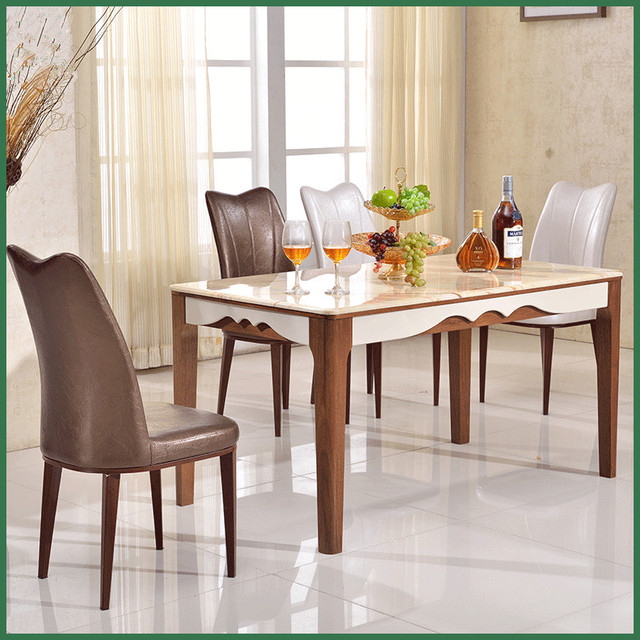 New Arrival Mediterranean Dining Table Stainless Steel Home Furniture Send From China