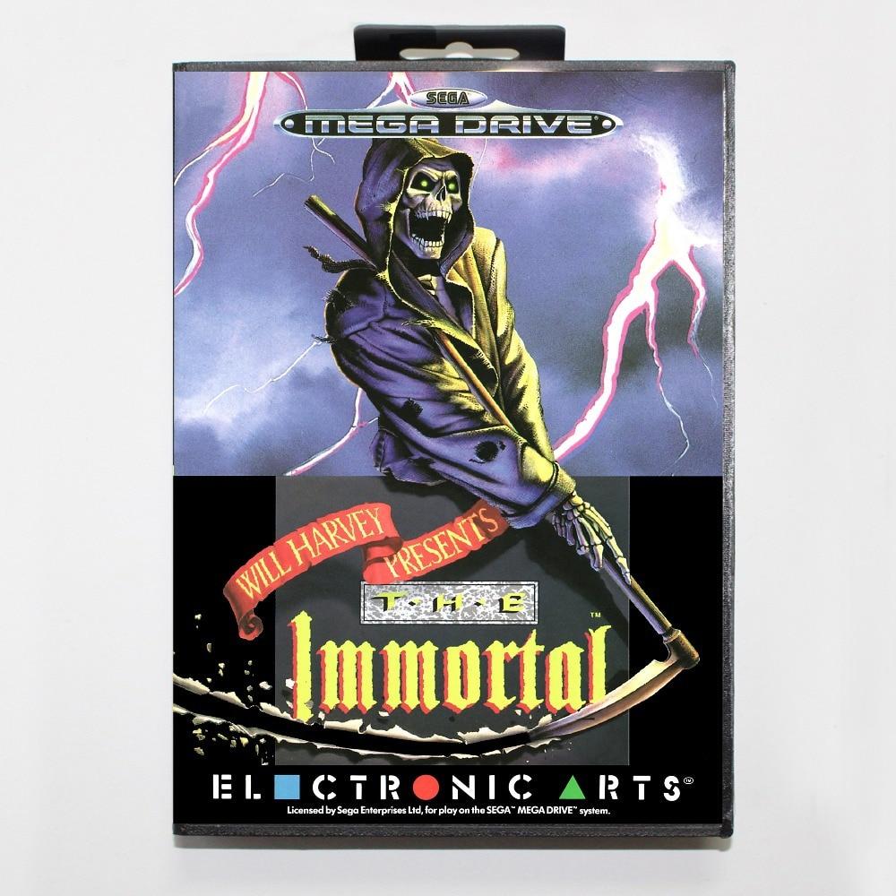 Immortal Game Cartridge 16 bit MD Game Card With Retail Box For Sega Mega Drive For Genesis