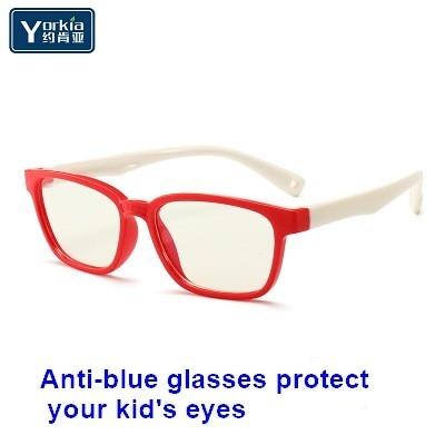 Yorkia Kinder Blau Licht Block Gläser Unisex Cartoon Retro Mode Anti-blau Brille Augenschutz Weichen Silicon Rahmen Eine Hohe Bewunderung Gewinnen