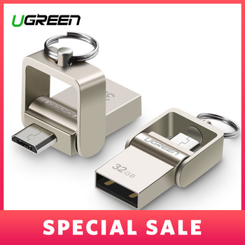 Ugreen USB Flash Drive, 64GB Metal OTG Pendrive High Speed USB Memory Stick 32GB pen Drive Real Capacity 16GB USB Flash U disk Силиконы