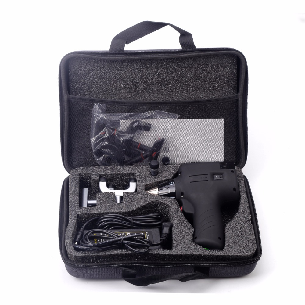 Chiropractic Adjusting Tool Electric Correction Gun Activator Massager Spine Activator 6 Levels 3 Heads Spine Protector