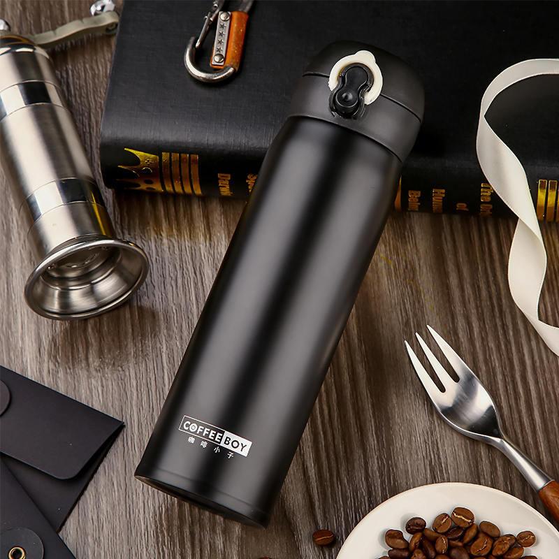 Termo de botella termal de café para termo de taza recta de acero inoxidable de termo para termo de té