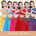Nova Criança roupas de dança do ventre definir boa qualidade multi-cor Meninas Crianças trajes de desempenho de dança do ventre traje dança Indiana