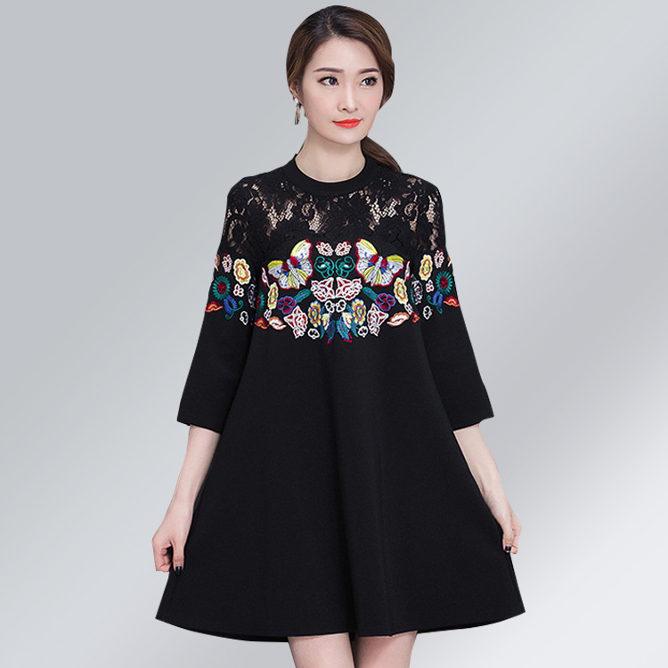 Women's Spring Autumn Blouses Ladies' Summer Shirts Loose Maternity Dress Lace Party Pregnant Women Clothes Embroidery Black 2016 spring new trending comfortable pregnancy women blouses micro flower dotting printed casual shirts maternity clothes 1062