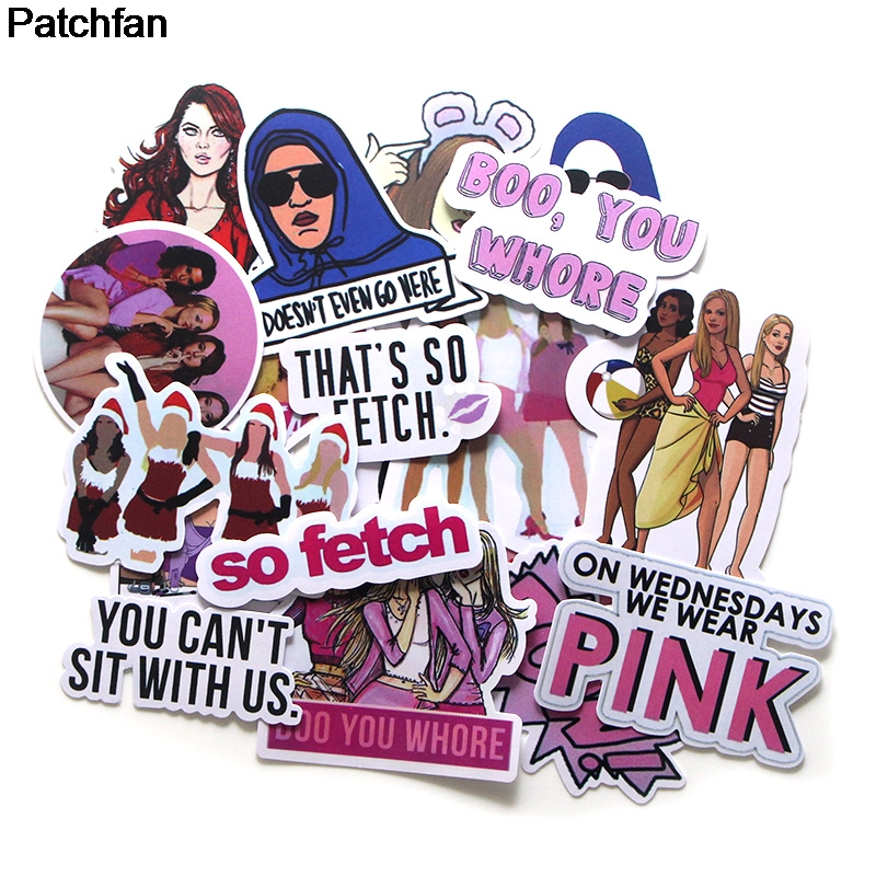 Patchfan 20pcs Mean Girls Creative Badges DIY Decorative Stickers Style DIY PC Wall Notebook Phone Case Scrapbooking Album A1921