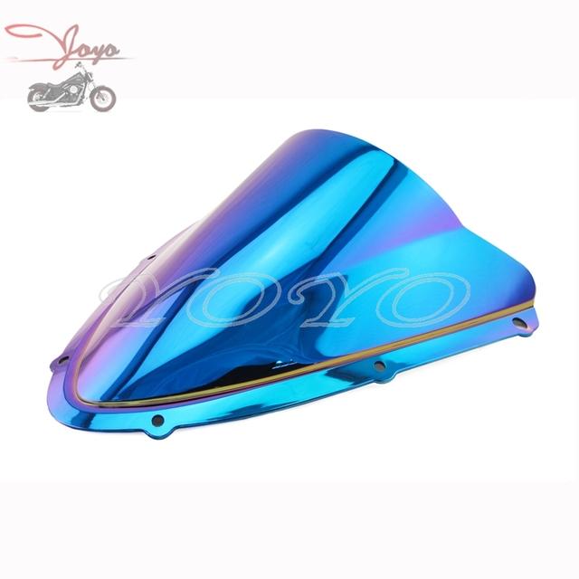 Windscreen brisa iridium motocicleta abs plástico colorido para suzuki gsxr600 gsxr750 gsx-r 2008 2009 2010 k8