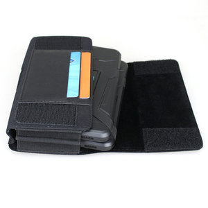 Image 3 - Dual Phone Holster for Two Phones Nylon Double Decker Belt Clip Pouch Case for 2 iPhone Xs Max Samsung Note 9 Huawei Mate 20