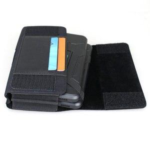Image 3 - Podwójny futerał na telefon do dwóch telefonów nylonowy dwupiętrowy futerał na pasek etui na 2 iPhone Xs Max Samsung Note 9 Huawei Mate 20