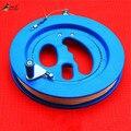 O Envio gratuito de Alta Qualidade ABS Pipa Roda Azul Grande Ferramentas de Lidar Com Roda e Linha de Pipa de Tração Pipa Voando