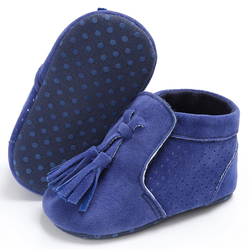 Spring Autumn Infant Baby Girl Boy Fashion Suede PU Tassel Toddler Soft Sole Antiskid First Walkers Shoes 0-18M