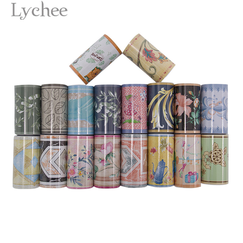 Lychee 10m Floral Pattern Wallpaper Borders Sticker Self Adhesive Wallpaper Home Room DecorationLychee 10m Floral Pattern Wallpaper Borders Sticker Self Adhesive Wallpaper Home Room Decoration