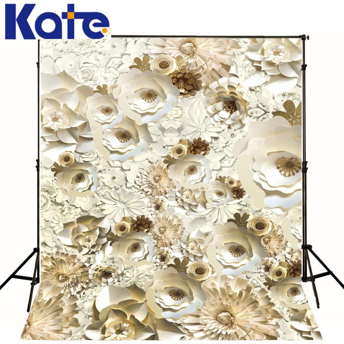 Kate Vintage Wedding Artificial-flowers Backdrops White Paper Flower Backdrop Newborn Background сумка kate spade new york wkru2816 kate spade hanna