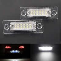 2Pcs Car 18LED No Error Number License Plate Light Lamp For VW Touran Passat Cimousint B5.5 SKODA Superb 1 3U B5 Car Accessories