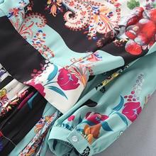 فستان خريفي منقوش بألوان زاهية و أكمام قصيرة