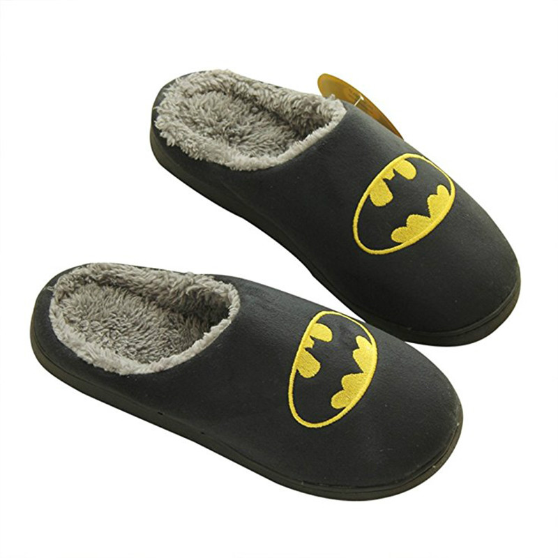 LettBao New Fashion Home Slippers Schinelo Masculino Slippers Men Super Hero Pattern Slipper Man Winter Shoes Fur Funny Slippers super slipper taipei