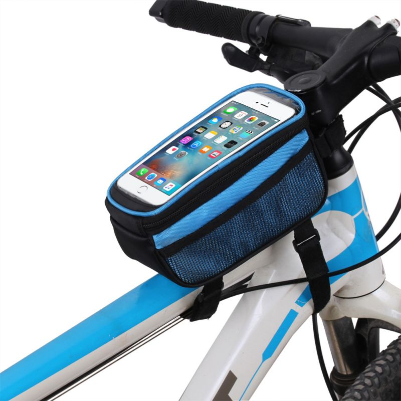 B-SOUL Bike Bag Touch Screen MTB Saddle Bag On The Tube Mobile Phone Package Riding Equipment 5.7 Inch Frame Storage bag цена 2017