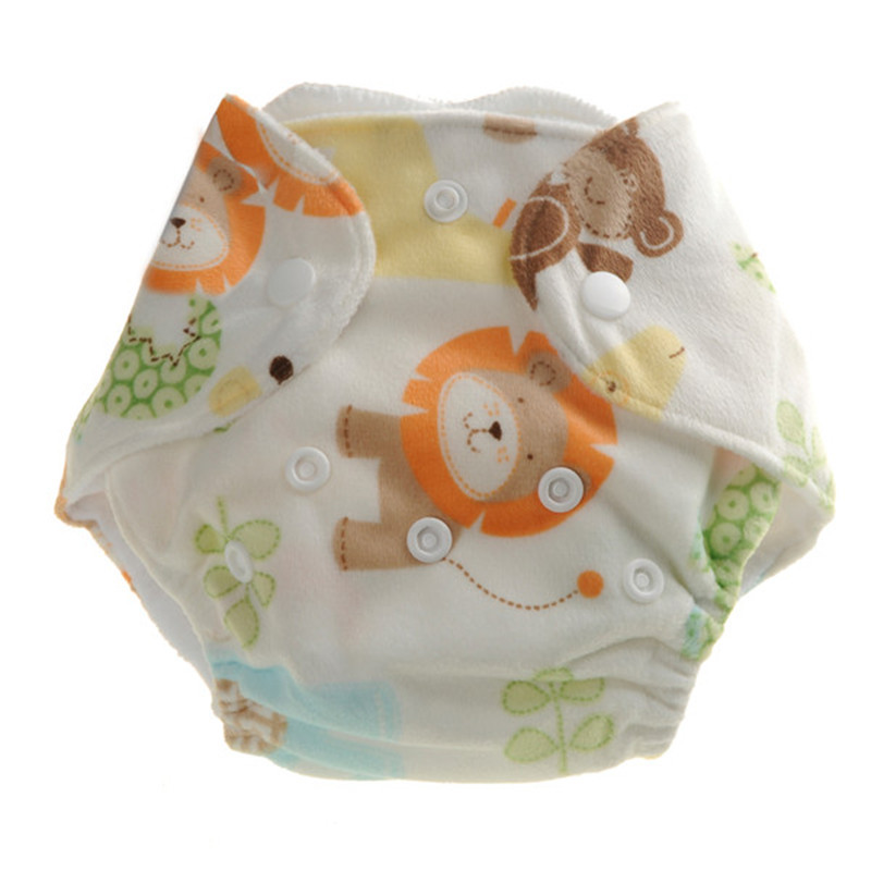 Pororo NEWBORN baby diaper cover,double leaking guards, waterproof and breathable, fit 0-3months baby or 6-19 lbs,without insert