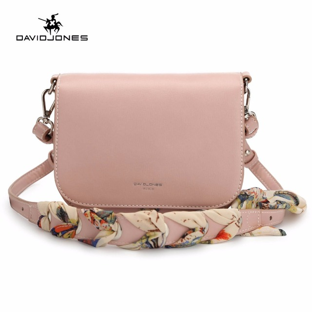 Davidjones Women Shoulder Bags Faux Leather Female Handbag Mini Lady Scarve Messenger Bag Brand Crossbody