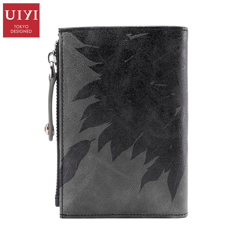 New 100% Top Genuine Leather UIYI Brand Men Portable Wallet Bags Fashion passport cover For Male Casual Purse Quality handbags