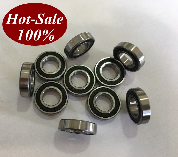 Black Rubber Sealed Ball Bearing Bearings 6904RS 10pcs 6904-2RS 20x37x9 mm