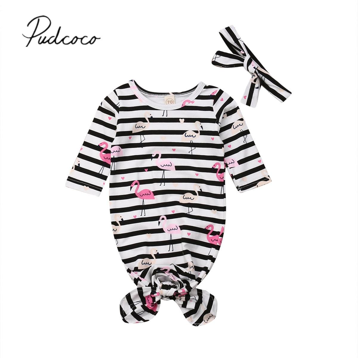 2019 Baby Bedding Clothing Newborn Baby Striped Sleepwear